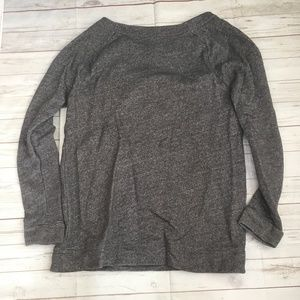 LOFT Tops - loft womens l grey pullover sweatshirt zippers mar